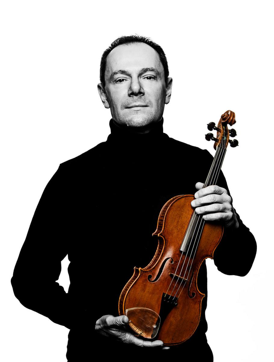 Philippe Honore with his Violin